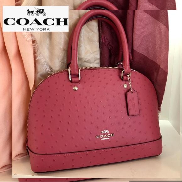 Coach Handbags - COACH Ostrich Bag Sirra Leather Gorgeous Color